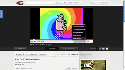 Neues Layout Cosmic Panda von Youtube - kurze Demo
