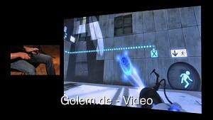 Razer Hydra - Demonstration der Bewegungssteuerung mit Portal 2