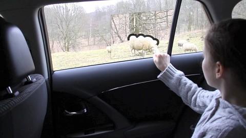 Augmented-Reality-Display im Autofenster