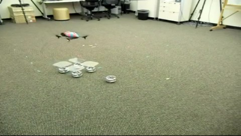 Roboter bilden mobile Landeplattform