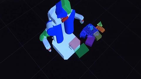 Roboter PR2 backt Kuchen