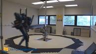 Roboter Mabel kann rennen