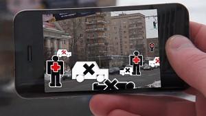 Smartphone-App für Verkehrssicherheit in Moskau