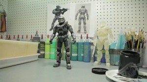 Entstehung einer Halo-Spielzeugfigur