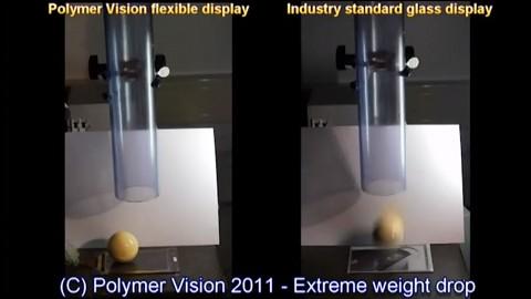 Flexibles Display von Polymer Vision im Härtetest