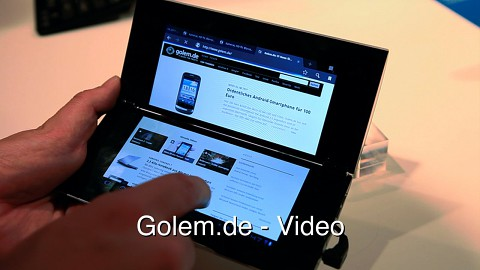 Sony Tablet P - Hands on (Ifa 2011)