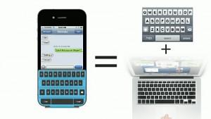 Folientastatur für das iPhone