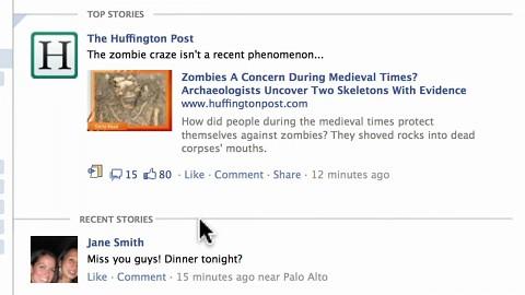 Facebook - neuer Newsfeed und Ticker - Herstellervideo
