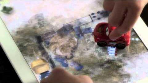 Disney Appmates - Spielzeugautos auf iPad