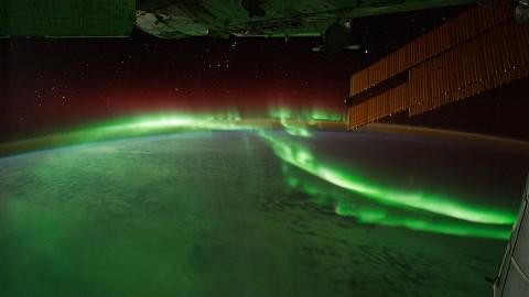 Polarlichter Von Der Iss Aus Gesehen Video Golem De