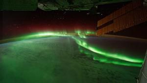 Polarlichter von der ISS aus gesehen