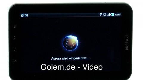 Firefox 9 Aurora auf dem GalaxyTab