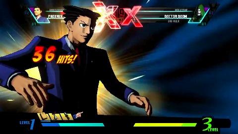 Phoenix Wright in Marvel vs. Capcom 3