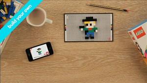 Legobausteine und iPhone vereint als Spiel