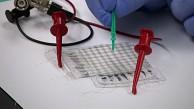 Dehnbarer Drucksensor für künstliche Haut