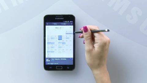 Samsung Galaxy Note - der Kalender