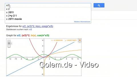 Funktionsgraphen in der Google-Suche