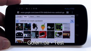 Android 4.0 alias Ice Cream Sandwich - Test