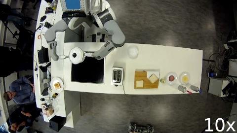 Roboter machen Popcorn und Butterbrote