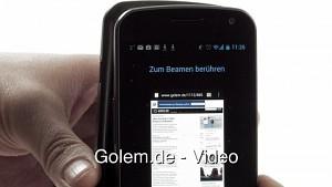 Galaxy Nexus - Beam-Funktion von Android 4.0