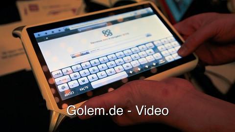 Qook - Hands on mit dem Tablet zum Kochen (CES 2012)