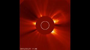 Nasa zeigt größte Sonneneruption seit 2005
