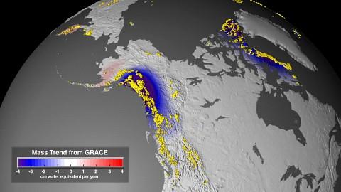 Eisflächen und Klimaforschnug - Nasa