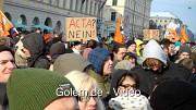 Demonstration gegen Acta in München
