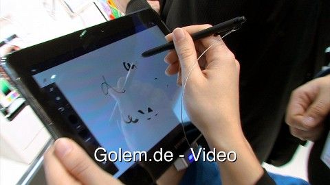 Samsung Galaxy Note 10.1 - Hands on (MWC 2012)