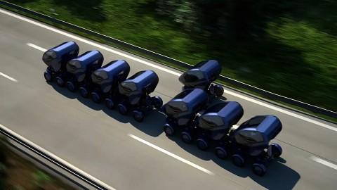 Elektroauto EO 1 in Aktion (Cebit 2012)
