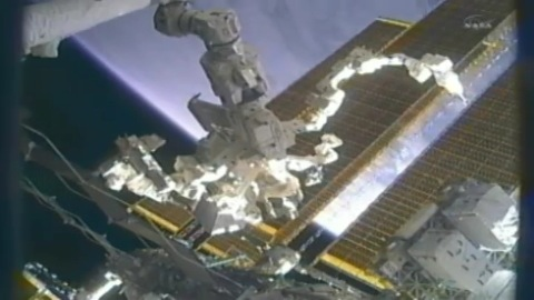 Dextre repariert das erste Mal an der ISS