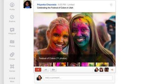 Das neue Design von Google Plus (April 2012)