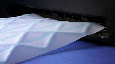 Hydrofold - Papier durch Tintenstrahldrucker gefaltet