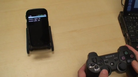 Smartphone-Roboter Oddwerx PS3-Controller-gesteuert