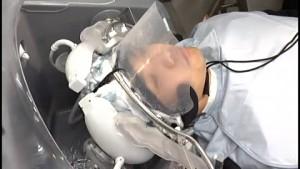 Panasonic testet Roboter, der Haare wäscht