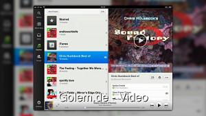 Eindrücke von Spotify für iPad