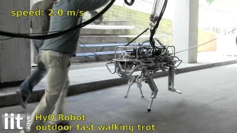 Vierbeiniger Roboter HYQ läuft - IIT