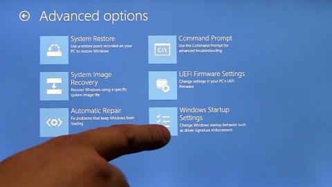 Aufruf der Boot-Optionen von Windows 8