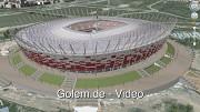 3D-Stadien der Fußball-EM 2012 in Google Earth