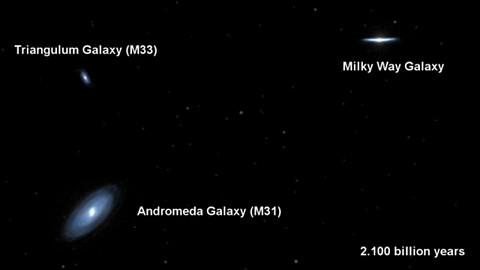 Andromeda und Milchstraße werden verschmelzen