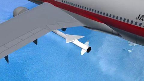 Start einer Pegasus-Rakete von einem Flugzeug