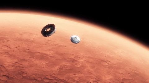 Landung von Curiosity - Nasa