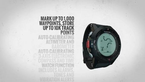 GPS-Uhr Garmin Fenix mit Routendarstellung