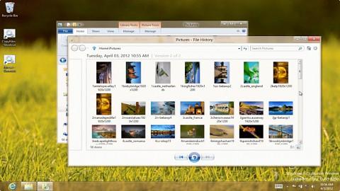 Microsoft zeigt File History genannte Time Machine