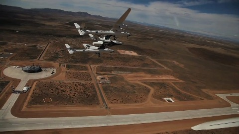 Testflüge mit Spaceship Two - Virgin Galactic