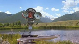 Steinschleuderroboter Skippy