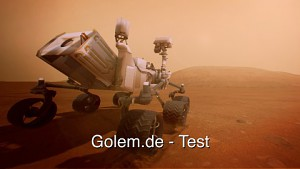 Kinect Mars Rover Landing angespielt