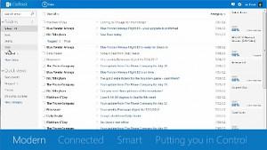Webmail startet im Metro-Look