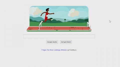 Google Doodle zu Olympia (Hurdles)