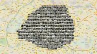 Architektonischer Fingerabdruck von Paris
